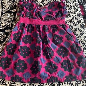 Tea collection dress magenta 2T flutter sleeves